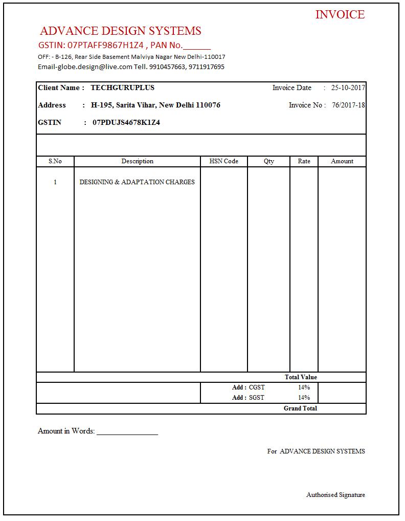 93 Create Tax Invoice Format Under Gst Pdf in Photoshop by Tax Invoice Format Under Gst Pdf