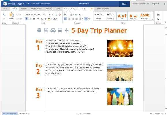 travel itinerary template powerpoint