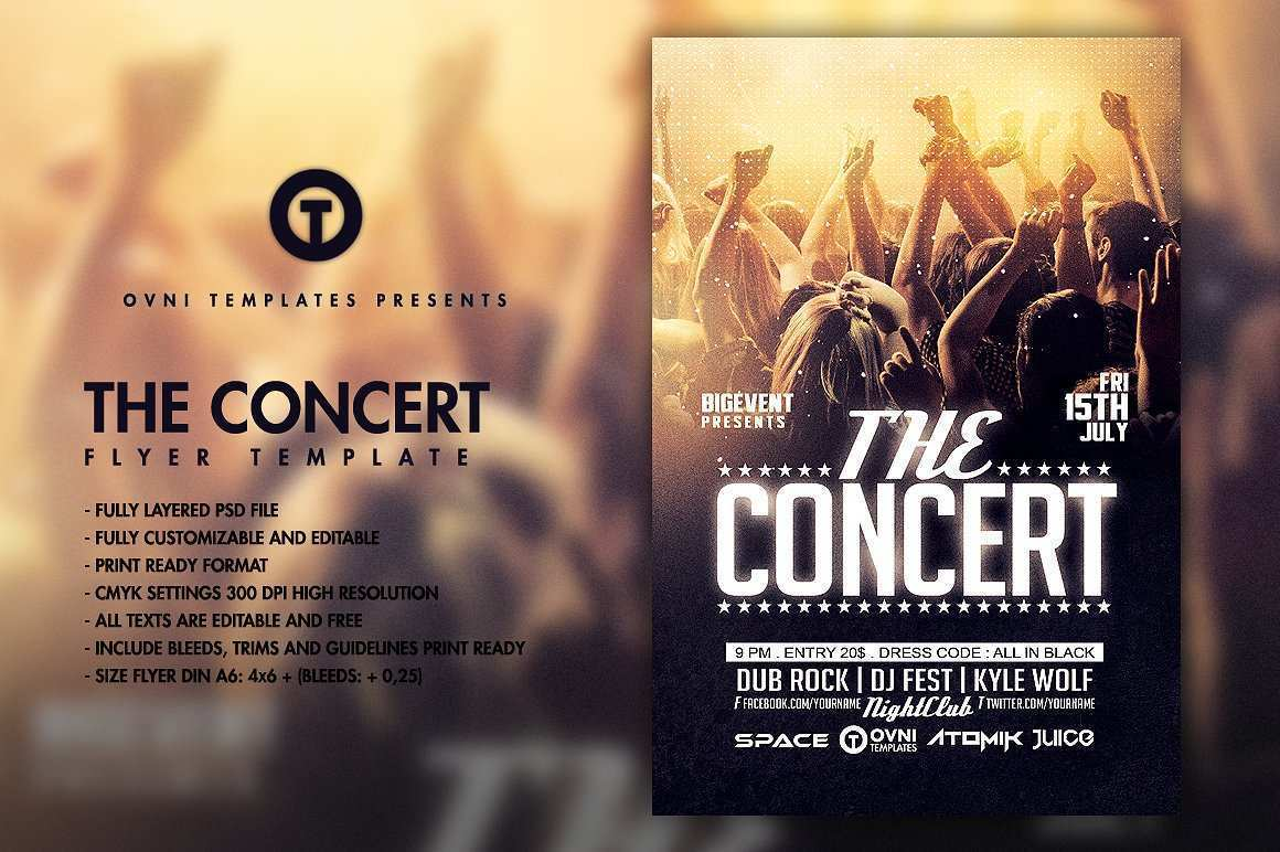 93 Creating Band Flyers Templates With Stunning Design with Band Flyers Templates
