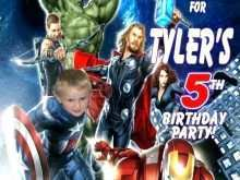 93 Creating Birthday Card Template Avengers PSD File for Birthday Card Template Avengers