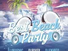 93 Creative Beach Party Flyer Template Free Psd With Stunning Design for Beach Party Flyer Template Free Psd
