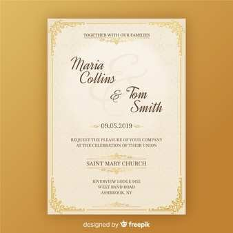 Invitation Card Format In English Cards Design Templates