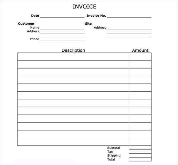 93 Customize Blank Generic Invoice Template Formating for Blank Generic Invoice Template
