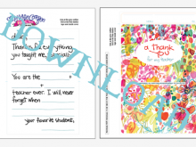 93 Customize Thank You Card Templates For Teachers Layouts for Thank You Card Templates For Teachers