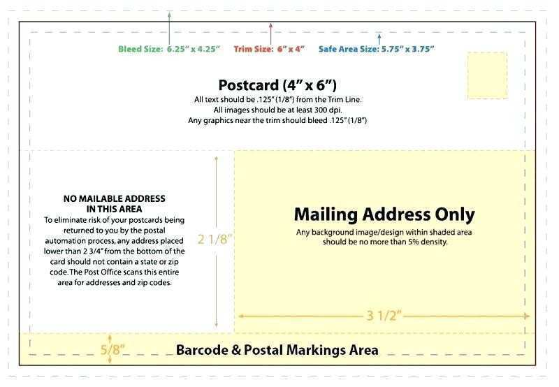 93 Free 4X6 Postcard Template Usps Templates by 4X6 Postcard Template Usps