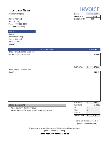 93 Free Basic Freelance Invoice Template for Ms Word for Basic Freelance Invoice Template