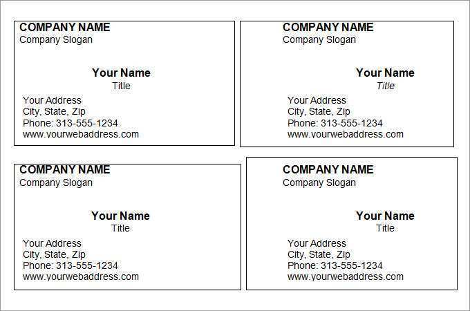 93 Free Business Card Templates In Word Formating with Business Card Templates In Word