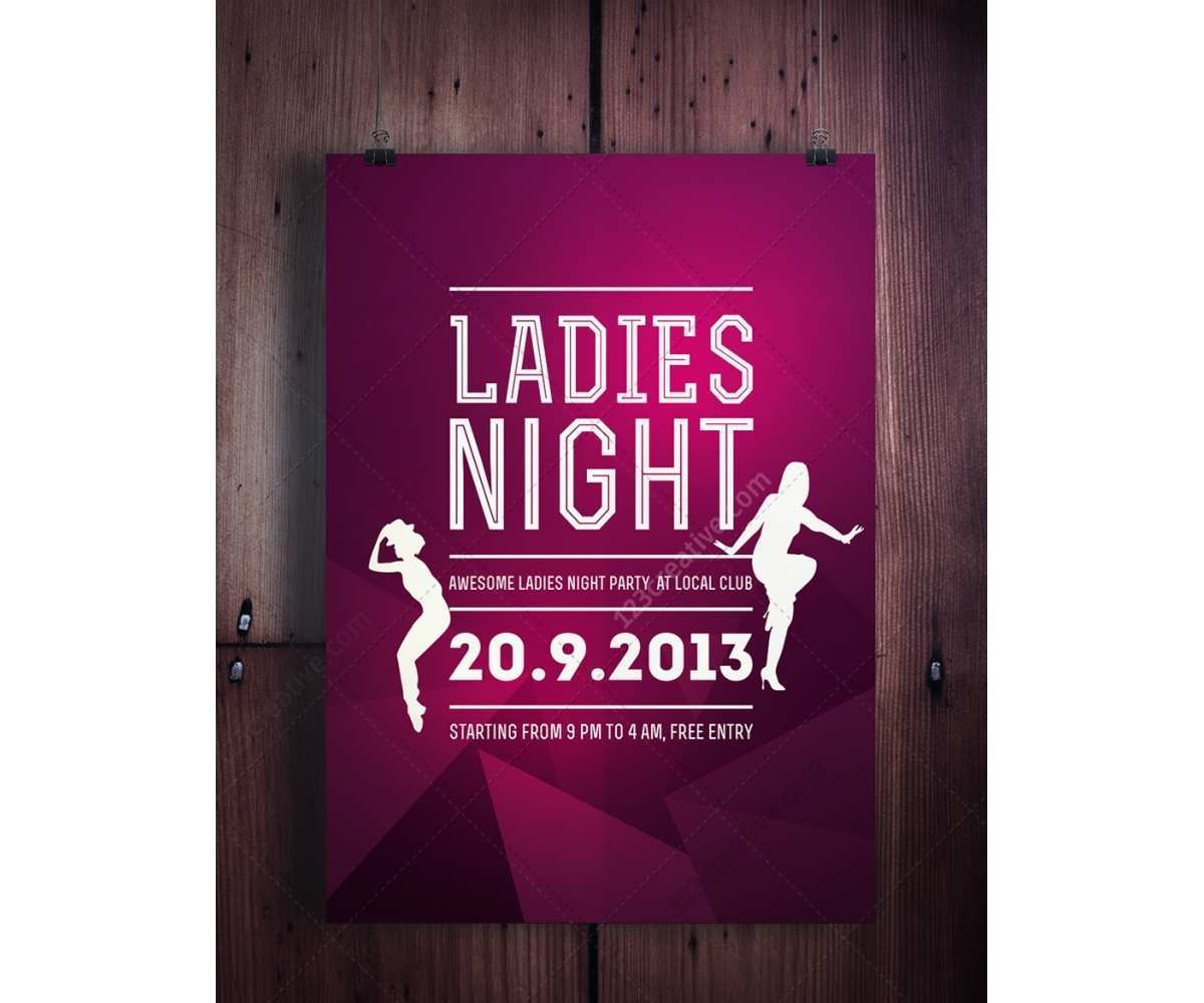93 Free Ladies Night Flyer Template Free For Free for Ladies Night Flyer Template Free