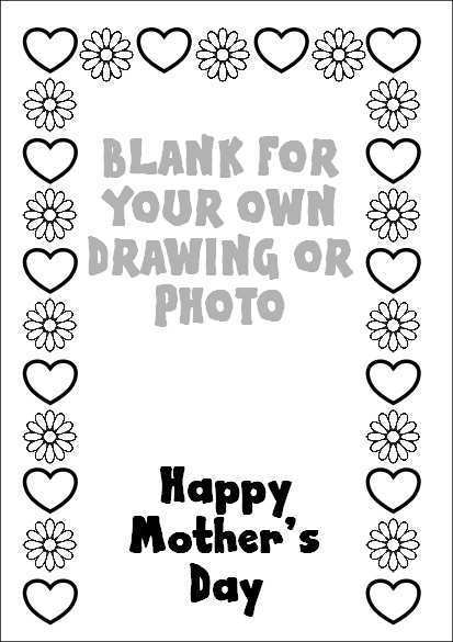 93 Free Mothers Day Cards Colouring Templates Templates for Mothers Day Cards Colouring Templates