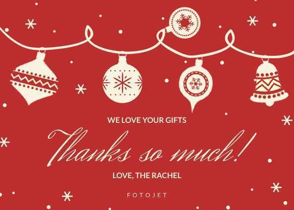 93 Free Printable Christmas Thank You Card Templates Free Download with Christmas Thank You Card Templates Free