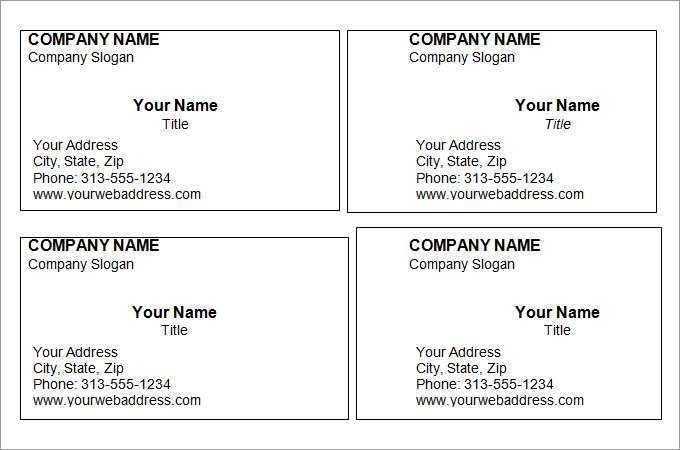 93 Printable Business Card Templates Word PSD File with Business Card Templates Word