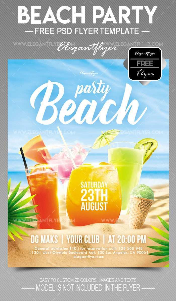 93 Standard Beach Flyer Template Free Photo with Beach Flyer Template Free