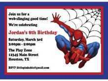 93 Standard Birthday Card Template Spiderman With Stunning Design for Birthday Card Template Spiderman