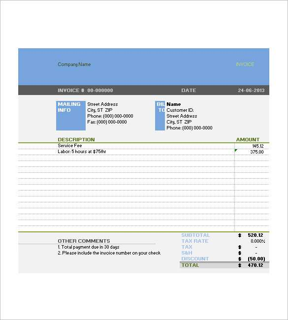 93 Standard Company Tax Invoice Template With Stunning Design with Company Tax Invoice Template