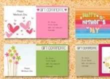 93 The Best Mother S Day Gift Card Template For Free by Mother S Day Gift Card Template