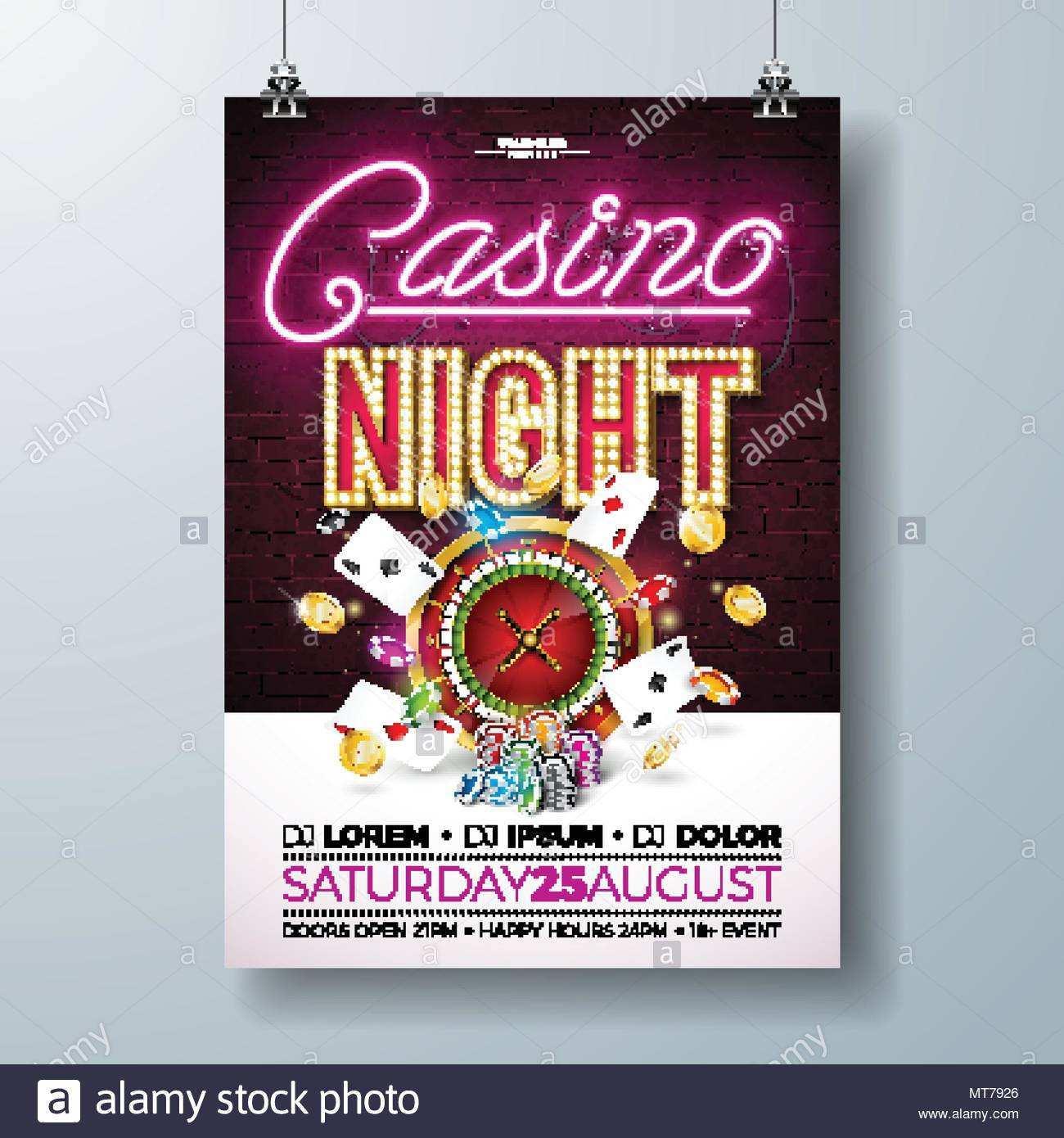 93 Visiting Casino Night Flyer Blank Template Maker for Casino Night Flyer Blank Template