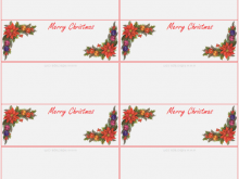 Christmas Place Card Template Printable