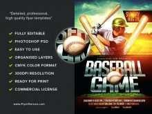 94 Creating Baseball Flyer Template Free Templates with Baseball Flyer Template Free