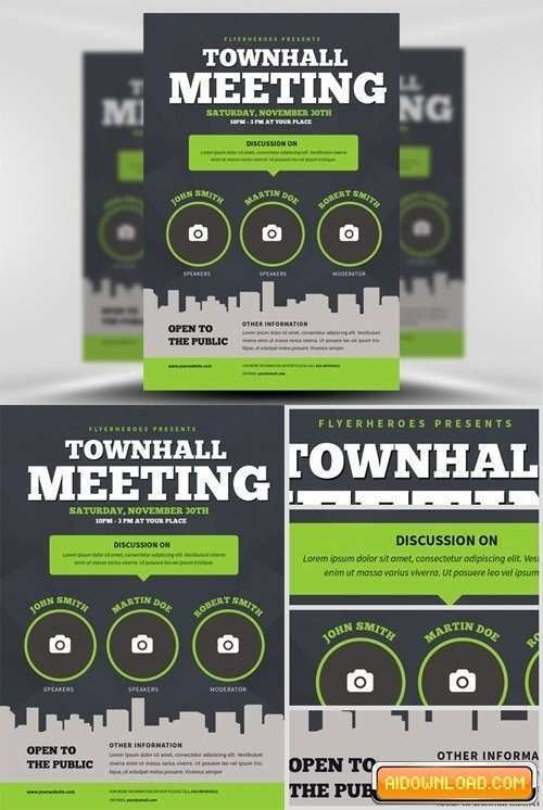 94 Creative Meeting Flyer Template in Photoshop for Meeting Flyer Template