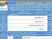 94 Creative Vat Invoice Template In Saudi Arabia Download by Vat Invoice Template In Saudi Arabia