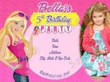 94 Customize Birthday Card Template Barbie Templates with Birthday Card Template Barbie
