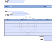 94 Customize Our Free Blank Hourly Invoice Template For Free by Blank Hourly Invoice Template