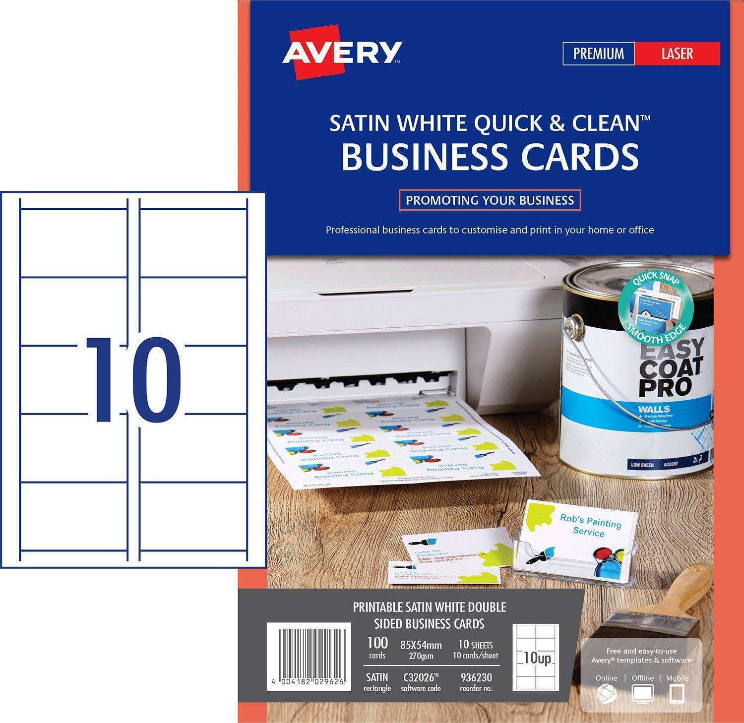 94 Format Avery Business Card Template Software With Stunning Design for Avery Business Card Template Software
