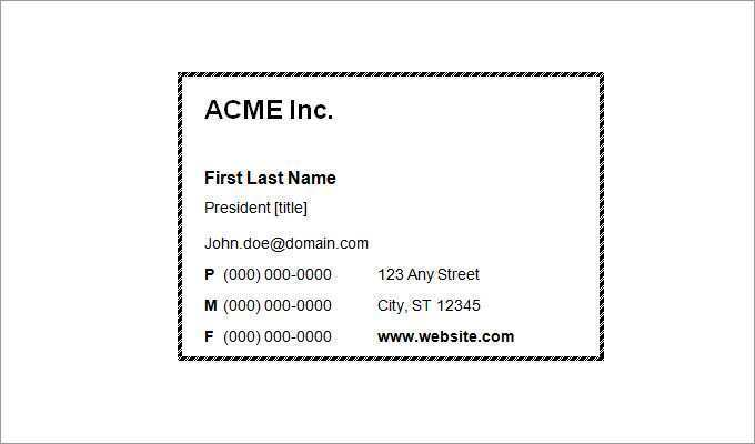 94 Printable Black And White Business Card Template Word in Photoshop by Black And White Business Card Template Word