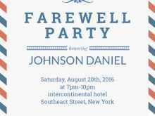 Farewell Invitation Card Template Free Download