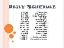 94 Standard Class Schedule Template Elementary School For Free by Class Schedule Template Elementary School