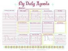94 The Best 2018 Daily Calendar Template Pdf Templates with 2018 Daily Calendar Template Pdf