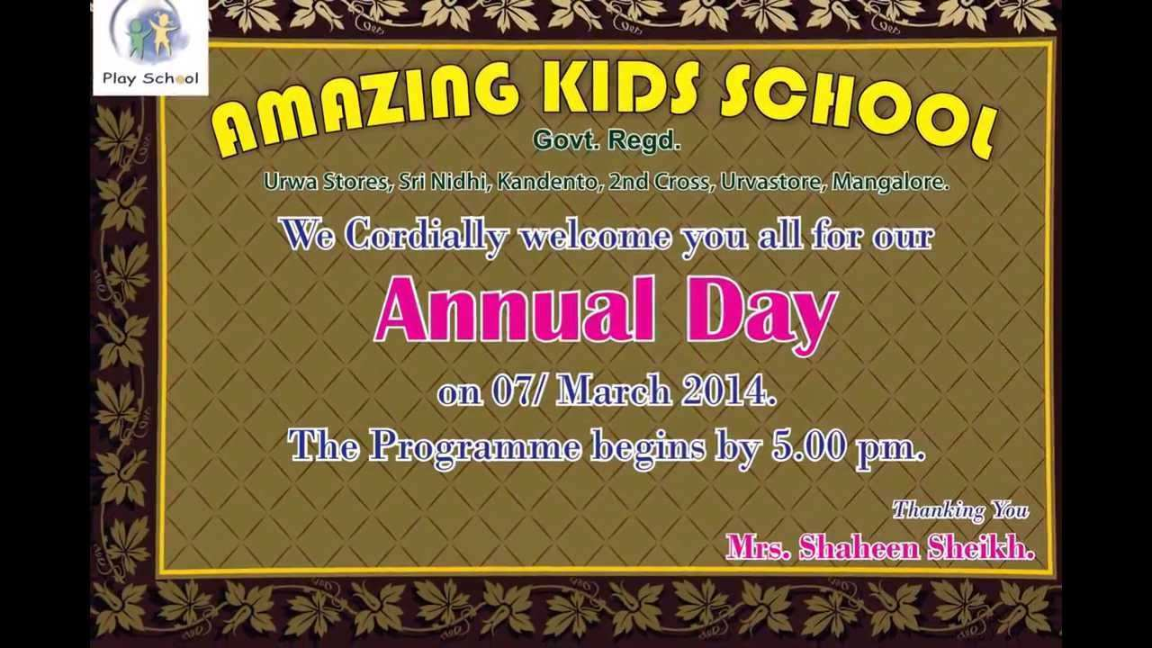Invitation Card Sample For Annual Function - Cards Design Templates