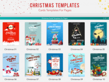 94 Visiting Christmas Card Templates For Pages in Word by Christmas Card Templates For Pages