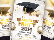 94 Visiting Graduation Party Flyer Template With Stunning Design for Graduation Party Flyer Template