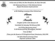 94 Visiting Wedding Cards Templates In Urdu Maker with Wedding Cards Templates In Urdu