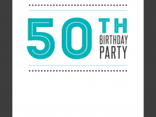 95 Adding 50Th Birthday Card Template Free Photo for 50Th Birthday Card Template Free
