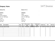 95 Adding Basic Vat Invoice Template Photo for Basic Vat Invoice Template