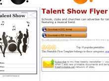 95 Adding School Talent Show Flyer Template For Free with School Talent Show Flyer Template