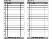 T Ball Lineup Card Template