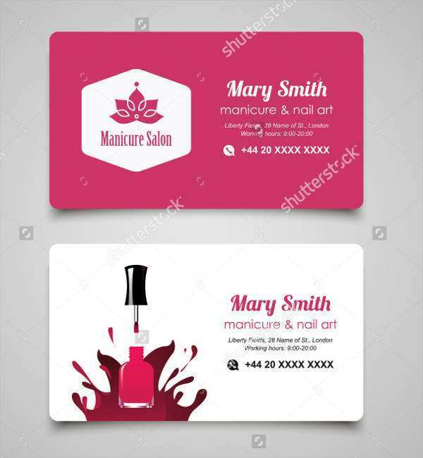 95 Best Beauty Business Card Template Word For Free with Beauty Business Card Template Word