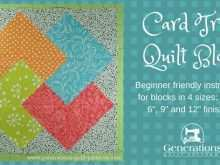 95 Blank Card Trick Quilt Template Now by Card Trick Quilt Template