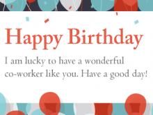 95 Create Birthday Card Template For Colleague With Stunning Design with Birthday Card Template For Colleague