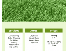 95 Create Lawn Mowing Flyer Template in Word for Lawn Mowing Flyer Template
