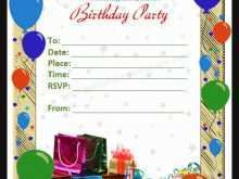 Birthday Invitation Card Template For Adults