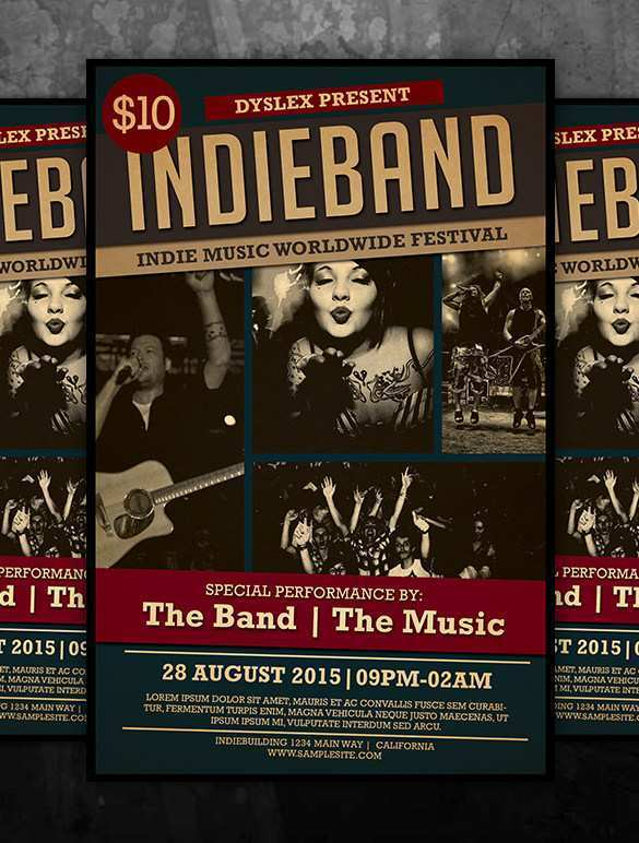 95 Creative Band Flyers Templates PSD File for Band Flyers Templates