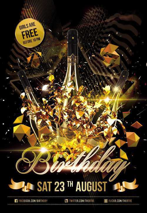 95 Creative Birthday Club Flyer Template With Stunning Design with Birthday Club Flyer Template