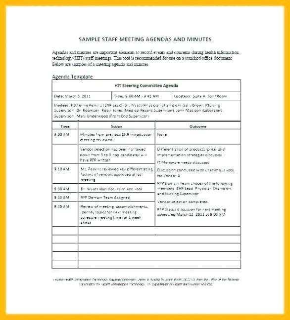 meeting agenda template in outlook