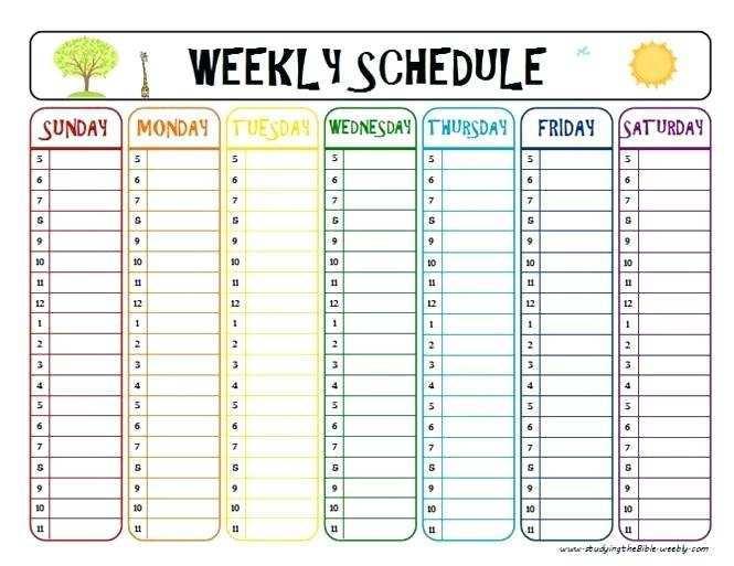 95 Customize Class Schedule Template Cute Download for Class Schedule Template Cute