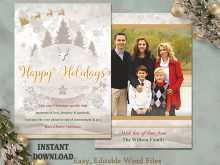 Christmas Card Template In Word