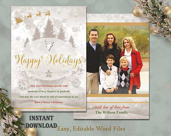 95 Customize Our Free Christmas Card Template In Word Templates for Christmas Card Template In Word